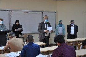 Team from Ministry of Higher Education visit postgraduate exam