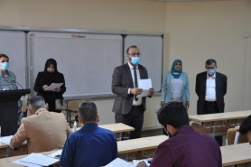 فريق وزاري يتفقد الامتحانات الحضورية للدراسات العليا